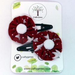 Christmas Hair Clips - Red...