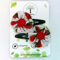 Christmas Hair Clips - Robin