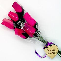 Wooden Rose Bouquet - Pink...