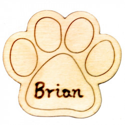 "Wooden ""Paw"" Magnet"