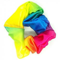 Rainbow Satin Scrunchie