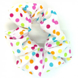 Light Rainbow Dot Scrunchie
