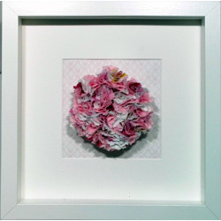 Pink Fabric Flower Framed...