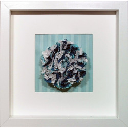 Teal Fabric Flower Framed...