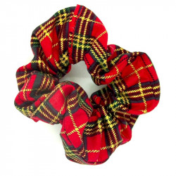 Christmas Red Tartan Scrunchie