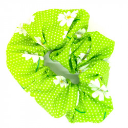 Green Daisy Scrunchie