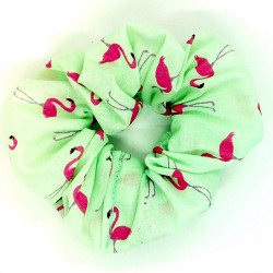 Mint Flamingo Scrunchie