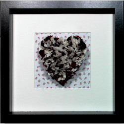 Burgundy & Cream Heart...