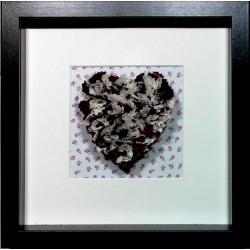 Burgundy & Cream Heart...
