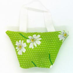 Lavender Handbag - Green Daisy