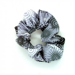 Grey Sunburst Hair Scrunchie