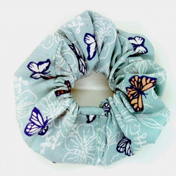 Blue Butterfly Hair Scrunchie