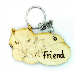 Personalised Fox Keyring