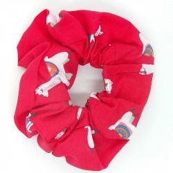 Red Llama Hair Scrunchie