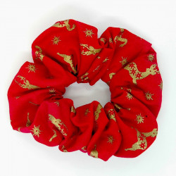 Christmas Red Deer Scrunchie
