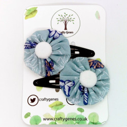 Blue Butterfly Hair Clips