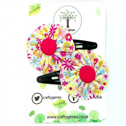 Funky Flower Hair Clips