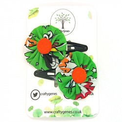 Green Comic Hair Clips
