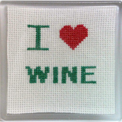 Cross stitch Coaster - I...