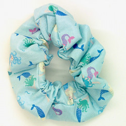 Blue Mermaid- Hair Scrunchie