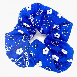 Blue Paisley - Hair Scrunchie