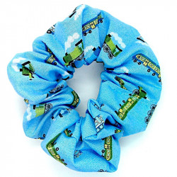 Blue Train - Hair Scrunchie