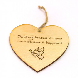 Heart Plaque - Don't Cry