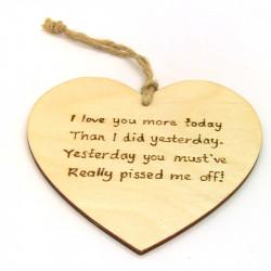 "Heart Plaque - ""I love you..."