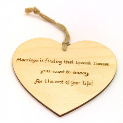 "Heart Plaque - ""Marriage is..."