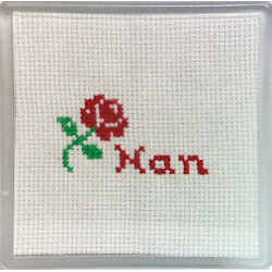 Cross stitch Coaster - Nan