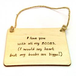 Rectangular Plaque - I Love...