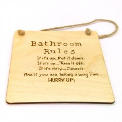 Bathroom Rules Plaque