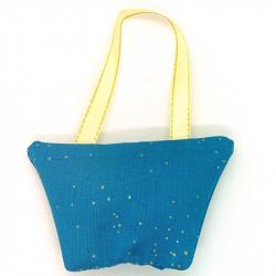 Lavender Handbag - Blue & Gold