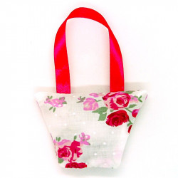 Lavender Handbag - Pink Floral