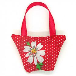 Lavender Handbag - Red Daisy
