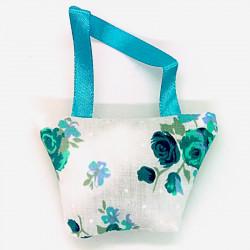 Lavender Handbag - Teal Floral