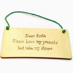 Christmas Plaque - Dear...