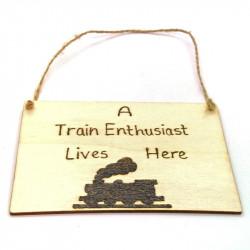 Wooden Plaque - Train...