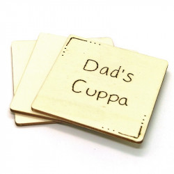 Wooden Coaster - Dad's Cuppa