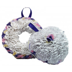 Fabric Wreath with Lights...