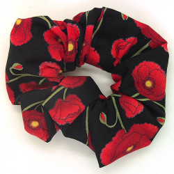 Black Poppy Scrunchie