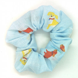 Blue Dog Scrunchie
