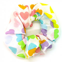 Pastel Hearts Scrunchie