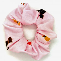 Pink Dog Scrunchie
