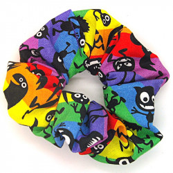 Rainbow Monster Scrunchie