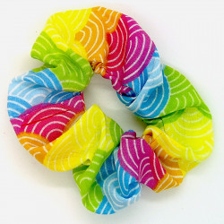 Rainbow Scale Scrunchie