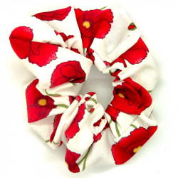 White Poppy Scrunchie