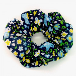 Blue Birds Scrunchie
