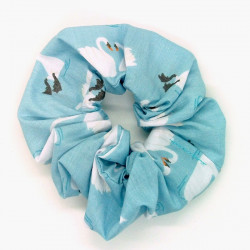 Blue Swan Scrunchie