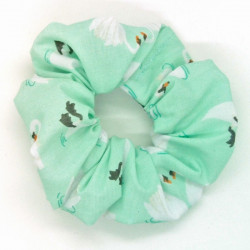 Mint Swan Scrunchie